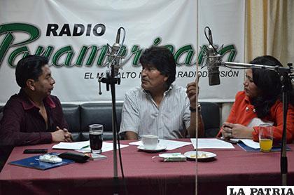 Morales participó este sábado en el programa Diálogo en Panamericana