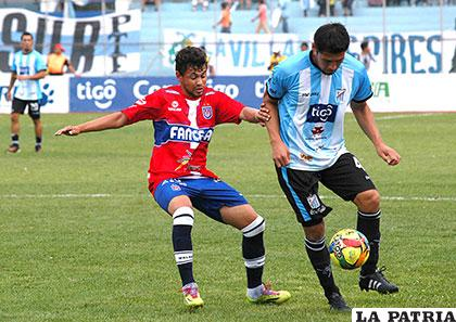 Universitario venció (2-0) cuando jugaron por última vez en Tarija el 25/10/2015