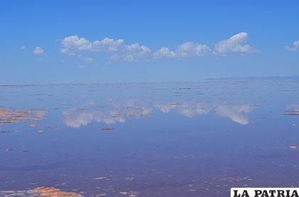 Panorámica actual del lago Poopó