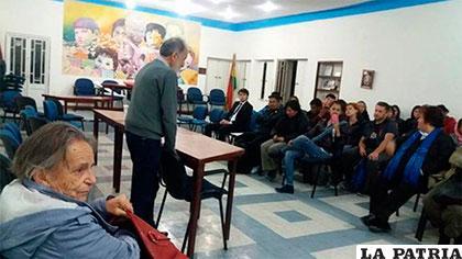 Sala de reuniones de la Asamblea Permanente de Derechos Humanos de La Paz /ANF