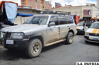 El vehículo de la Aduana que resultó afectado en el operativo