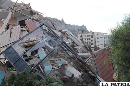 Totalmente destruidas quedaron algunas viviendas