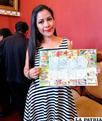 La gerente de la Empresa Phushkas, María Jesús Soria, presentó el mapa gastronómico
