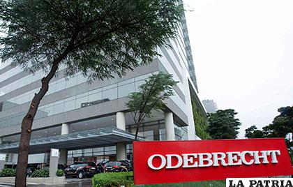 Frontis de la constructora brasileña Odebrecht involucrada en varios casos de corrupción