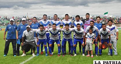 El equipo de San José que se presentó en Yacuiba para jugar ante Petrolero /APG