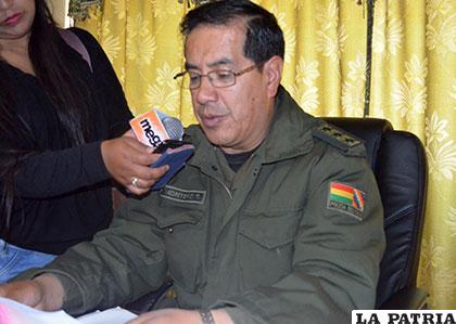 Coronel Montero explica la  labor que efectuarán durante el Carnaval de Oruro