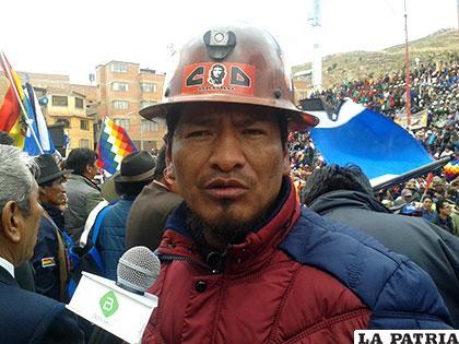 Edwin Peredo Ejecutivo de la Central Obrera Departamental