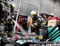 Voraz incendio en el mercado