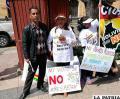 Los integrantes de la agrupación Ciudadanos Unidos Por Bolivia