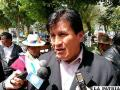 El alcalde de Caracollo, Juan Chino