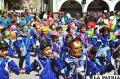 Los niños bailaron con alegría por las calles de Oruro