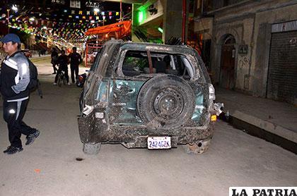 Este vehículo fue afectado y luego remolcado a dos cuadras de donde ocurrió el hecho
