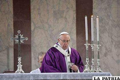 El Papa Francisco celebró su homilía en la basílica romana de Santa Sabina