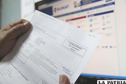 El sistema de facturación electrónica ya se utiliza en otros países /Foto referencial /ANDINA.PE