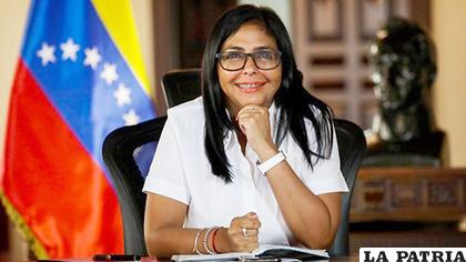 La vicepresidenta ejecutiva de Venezuela, Delcy Rodríguez/ minuto30.com