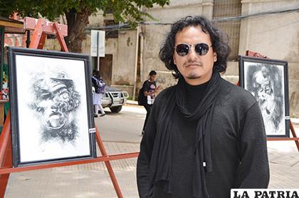 Alcides Calizaya mostró su talento en la Feria de las Artes/LA PATRIA/Johan Romero