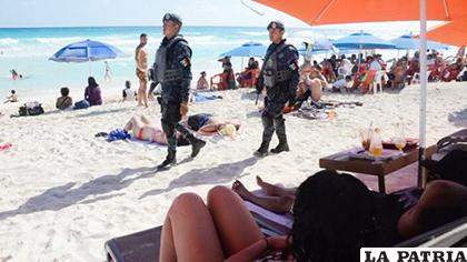 La Policía redobló su trabajo en balnearios del Caribe Mexicano /BBC