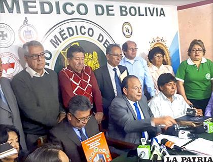 Los médicos se pronunciaron este martes /Colmed La Paz
