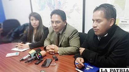 Los concejales del MAS en rueda de prensa / ANF