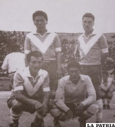 Arriba; Cáceres y Silez, abajo; Ferrufino y Soto