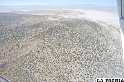 Bajo caudal que entra del Desaguadero afectará al Poopó /LA PATRIA