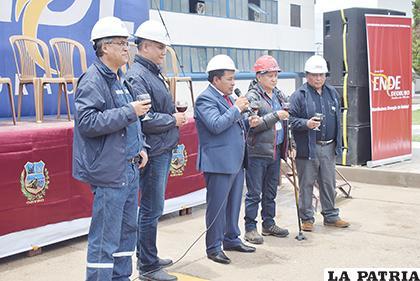 Autoridades que participaron de la actividad  /REYNALDO BELLOTA /LA PATRIA