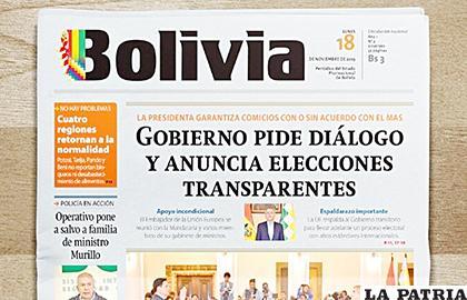 El periódico Bolivia antes llevaba el nombre de Cambio /ERBOL