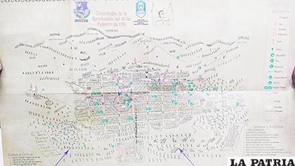 Plano muestra referencialmente lo que sucedió el 10 de Febrero de 1781 /LA PATRIA