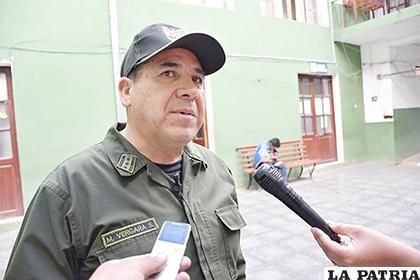 El director de la Felcc, coronel Manuel Vergara, informó del hecho /LA PATRIA