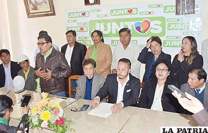 Juntos es la primera organización política en presentar de forma pública a sus candidatos /LA PATRIA