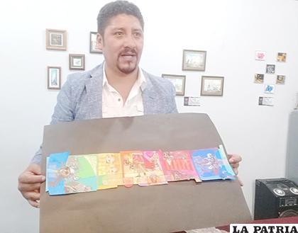Saúl Rivera, presidente de la ABAP Oruro, con uno de los proyectos /LA PATRIA