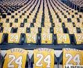 Butacas cubiertas con la casaquilla de Kobe Bryant, como homenaje póstumo /proceso.hn