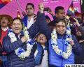 El binomio del MAS durante el acto de inicio de campaña /APG