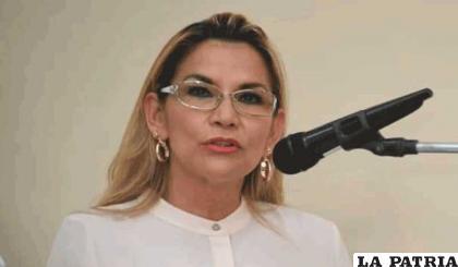 Jeanine Áñez expresidente de Bolivia /RR.SS.
