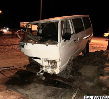 El conductor de este vehículo se dio a la fuga /LA PATRIA