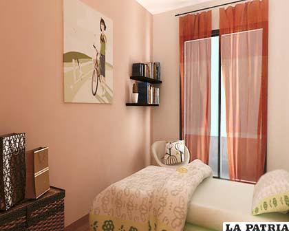 Nueve consejos para espacios muy peque os - Color de pintura para habitacion ...