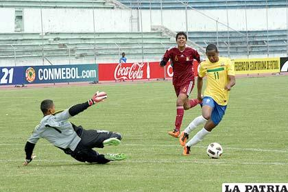 A pesar de la derrota Venezuela le hizo tres goles a Brasil