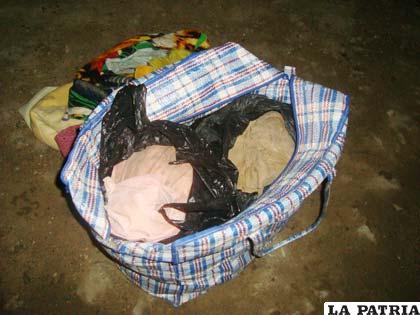 La droga hallada en el interior de una bolsa de mercado