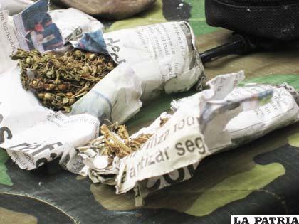 Sobres de marihuana (foto archivo)