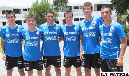 Integrantes de la selección de Chile, en el sudamericano