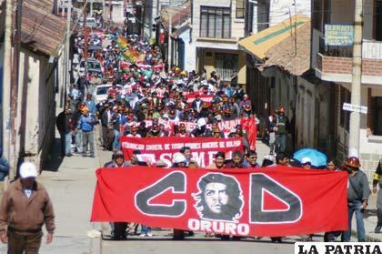 Se vio buena presencia de los trabajadores en la marcha de la COD