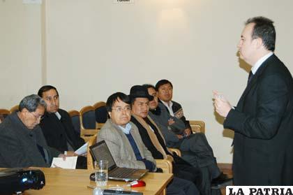 Socialización del proyecto de parte de Prointec durante la ex administración prefectural