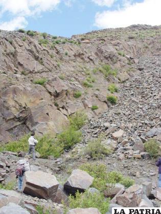 Comisión enviada por el Ministerio de Culturas inspeccionó estado del arte rupestre en Poopó