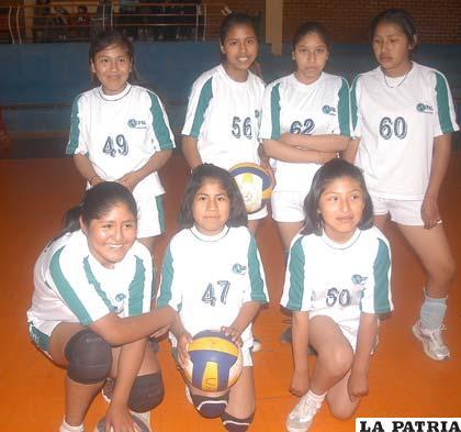 Equipo infantil de voleibol de UPAL