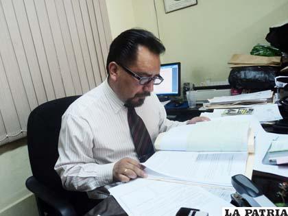 El fiscal de materia, Johnny Echalar Ramírez