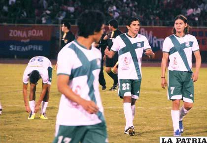 Jugadores de Petrolero de Yacuiba
