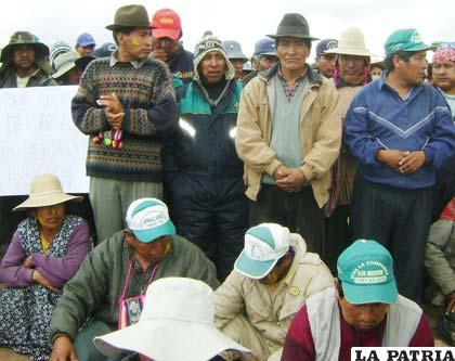 Pobladores de la zona de conflicto con Potosí rechazan el proceso de georreferenciación
