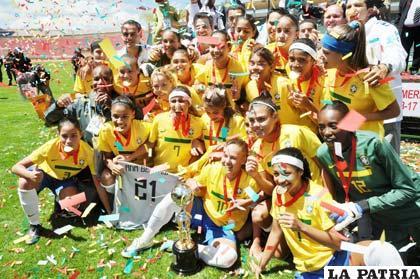 Jugadoras de la selección de Brasil