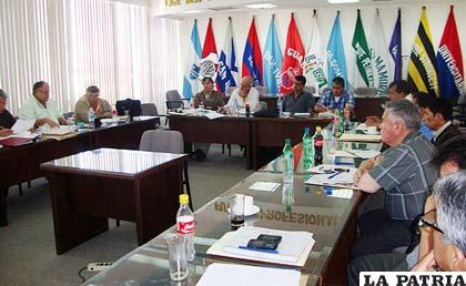 Juan Medina en la reunión del Consejo Central de la ANF