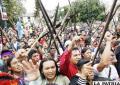 Indígenas iniciaron marcha contra el actual gobierno presidido por Rafael Correa